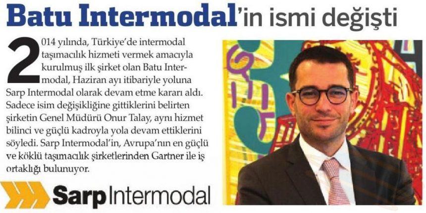 Batu Intermodal'in İsmi Sarp Intermodal Olarak Değişti! // UTA Lojistik