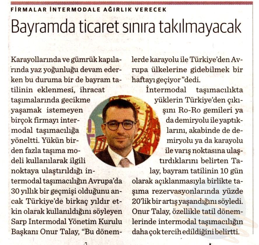 BAYRAMDA TİCARET SINIRA TAKILMAYACAK // Dünya Gazetesi