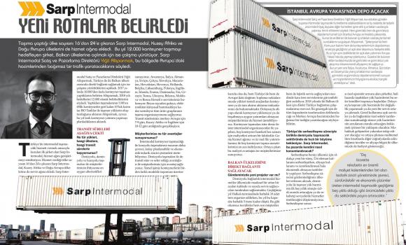 Sarp Intermodal Yeni Rotalar Belirledi // UTA Lojistik Dergisi