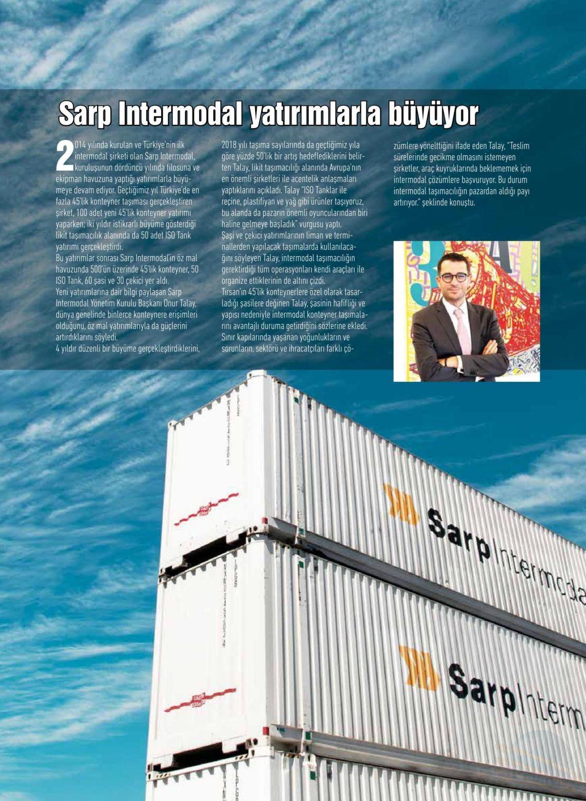 SARP INTERMODAL YATIRIMLARLA BÜYÜYOR // Transmedya Dergisi