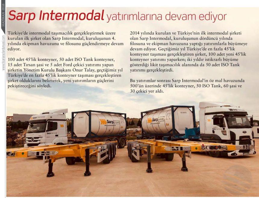 SARP INTERMODAL YATIRIMLARINA DEVAM EDİYOR // Ticari Araçlar Dünyası