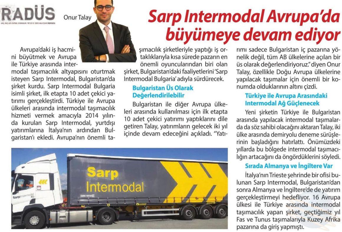 SARP INTERMODAL AVRUPA'DA BÜYÜMEYE DEVAM EDİYOR // RADÜS DERGİSİ