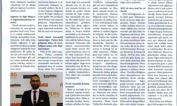 SARP INTERMODAL HIZLI BÜYÜMESİNE DEVAM EDİYOR // KARGOHABER DERGİSİ