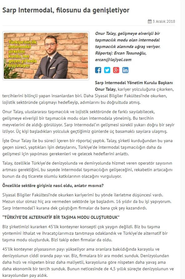 SARP INTERMODAL, FİLOSUNU DA GENİŞLETİYOR // LOJİYOL.COM