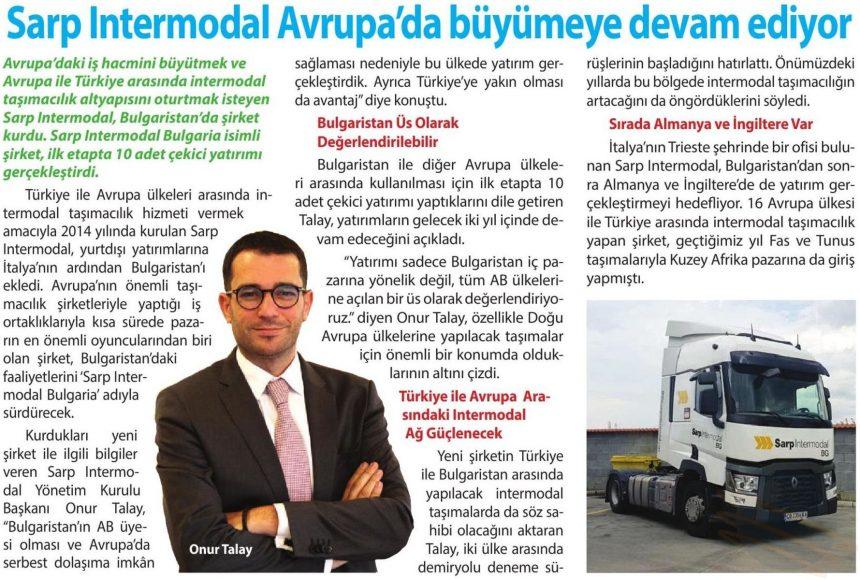 Sarp Intermodal Avrupa'da büyümeye devam ediyor // Radüs Dergisi