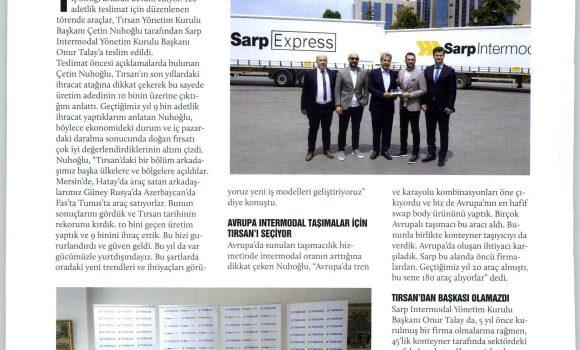Sarp Intermodal 120 Adet Ursan Aldı, Yatırıma Devam Etti // UND'nin Sesi
