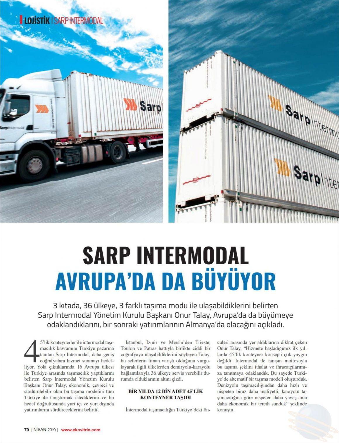 Sarp Intermodal Avrupa'da da Büyüyor // Ekovitrin
