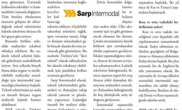 """""""Tekstil Sektörünün Lojistik Sektörüne İhtiyacı Her Geçen Gün Artıyor"""" // Kargo Haber"""
