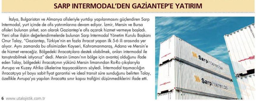 Sarp Intermodal'den Gaziantep'e Yatırım // UTA Lojistik