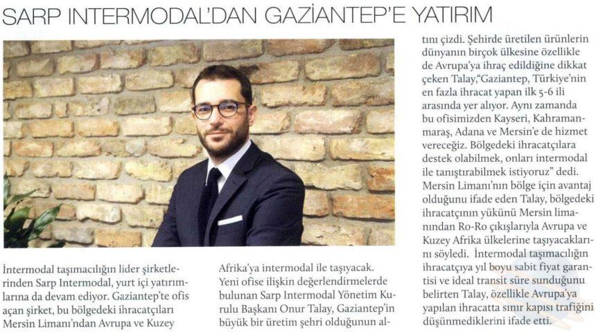 Sarp Intermodal'dan Gaziantep'e Yatırım // UND'nin Sesi